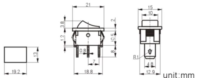 MRS-102-1 rocker switch