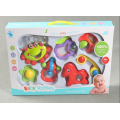 7Pcs Baby Cartoon Rattle Sets