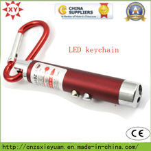 Custom Carabiner Metal LED Torch for Gift