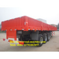 3 gandar 20 '/ 40' Flatbed Kontainer Trailer Semi