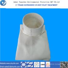 Fuente de suministro directo de fábrica PPS y PTFE Bolsa de filtro de polvo de composición para la industria de la metalurgia con muestra gratis