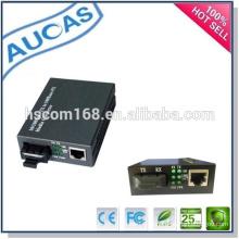 Симплексный дуплексный однорежимный 10 / 100M волоконный конвертер / rj45 SC передатчик 10 / 100Base-TX на 10 / 100Base-FX