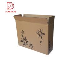 Fábrica OEM moda exterior China pequeno pacote de caixa de papelão laminado com impressão