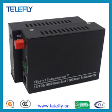FC Single Fiber 10/100/1000m Fiber Optic Transceiver