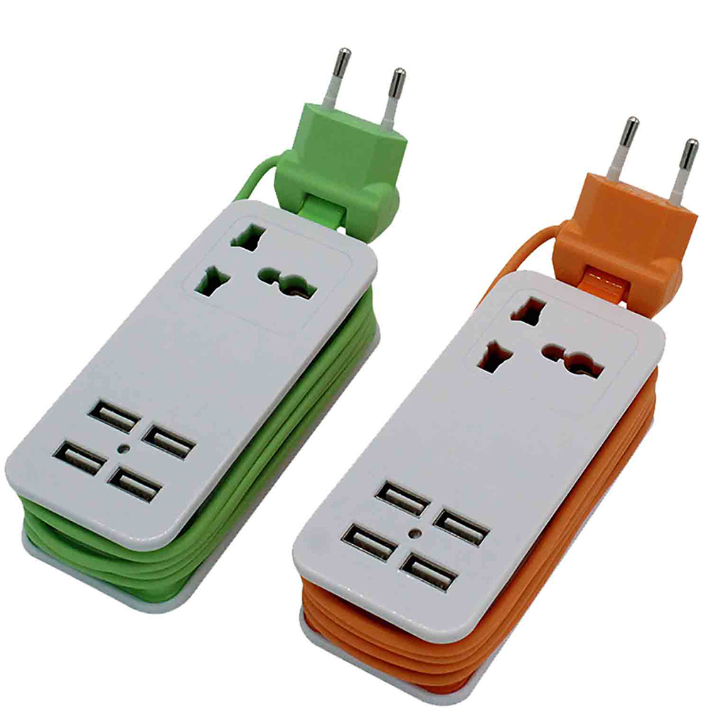 Travel Power Strip with USB Ports