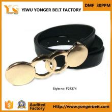 Correia de metal do ouro da fábrica da correia de China para a senhora das mulheres
