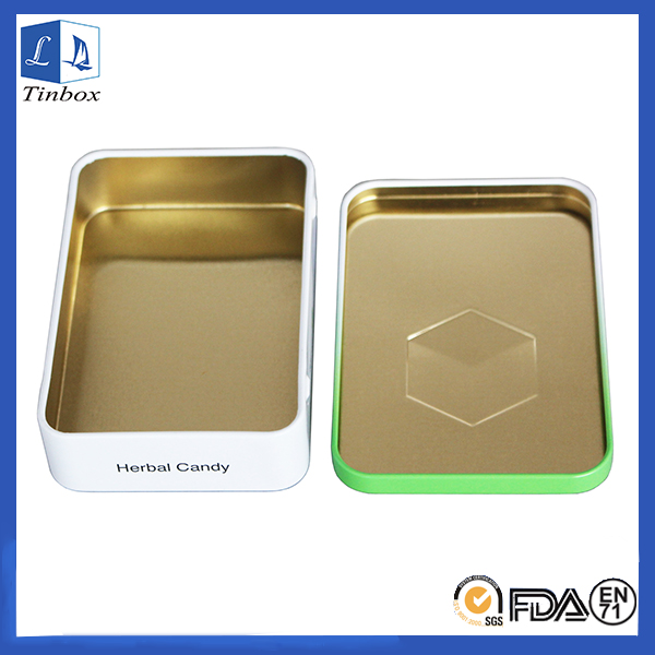 Rectangualr Medicine Packing Tin Storage Box