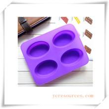 16 Cavity Oval Silikonform für Seife, Kuchen, Cupcake, Brownieand Mehr (HA36013)
