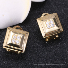 Chian fábrica personalizada oro pendientes 2018 nuevo diseño