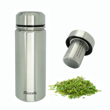 Travel Stainless Steel Vacuum Auto Mug with Strainer 500ml
