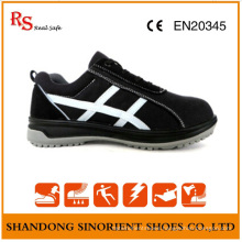 Black Steel Safety Shoes with Good Quality Suede Leather RS806