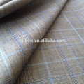 Italian suit merino wool bespoke plaid fabric