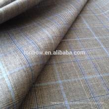 Italian suit merino wool bespoke plaid fabric