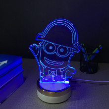ajustable 3D led tabel lamp night light