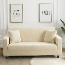 in stoclk RTS modern europe  style 3piece 2seater 4seats I shape online stretch beige sofa cover couch set