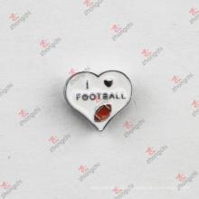 Popular I Love Football diapositivas encantos para DIY pulsera (JP08)