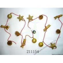 Цепочка подарочная коробка планке декоративные Рождественские из бисера