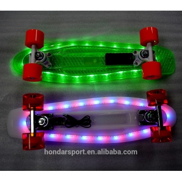 shining in the dark Rechargeable led skateboard Cruisers for sale