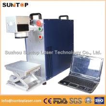 10W 20W 30W máquina de la marca de fábrica del metal y de la fibra de Non-Metal Laser para el caso del iPhone del PVC del Plastis del anillo