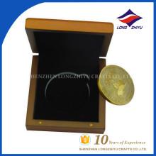 Tão linda lembrança de moedas use moeda de uso de presente com caixa de madeira agradável