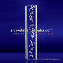 K9 3d laser engraved crystall pillar for decoration