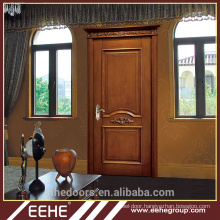 Modern wood veneer carved solid wood door