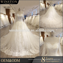 Heiße China-Lieferanten-Hochzeitskleid-lange Hülse