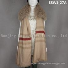 Long Pile Natural Mongolian Fur Scarf Eswj-27A
