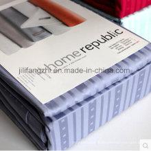 100% coton ensemble de literie, taie d'oreiller, drap-housse, feuille