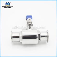 Válvula de esfera sanitária personalizada 2pc Tri-clamp