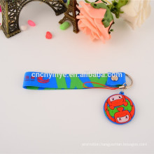 Popular custom printed PVC promotional cute phone chest strap