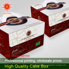 cardboard paper cake box