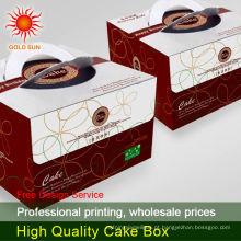 caixa de bolo de papelão