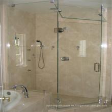 Vidrio claro de seguridad templado para puerta de ducha de vidrio interior