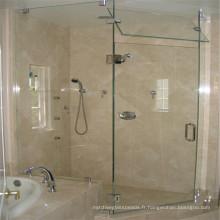 Verre tempéré Verre transparent pour porte de douche en verre intérieur