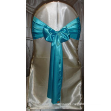 Cheap Turquoise Blue Satin Chair Sashes for Weddings