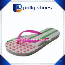 Chinelo de sandálias de mulheres de homens de tanga rosa
