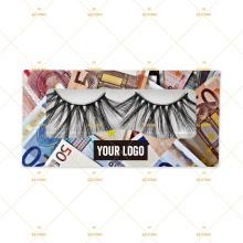 Euro Eyelash Paper Own Branding Lash Vendor Private Label Eyelash Packaging Box For 5D Mink Reusable Lashes Low Minimum In Stock
