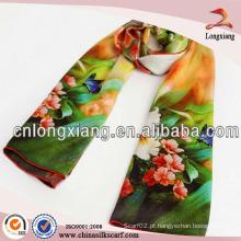 Moda feminina moda transferência de calor lenço impresso