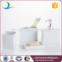 Accesorio de baño en relieve blanco para el hotel
