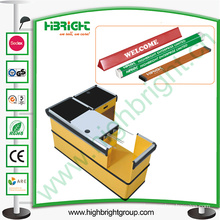 Supermarket Check out Counter Line Divider with Advertising Paper
