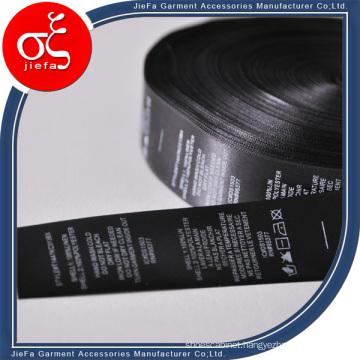Wholesales Satin Printing Label/Wash Care Label for Garment Label