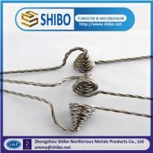 China Fio de tungstênio torcido puro do Manufactory 99.95% / fio de tungstênio encalhado