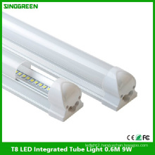 High Quality T8 LED Integrated Tube Light LED Tube Lamp 0.6m 9W