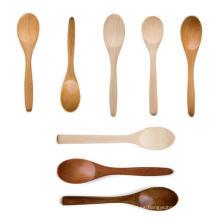cucharas de café de miel de enfriamiento baratas de madera al por mayor