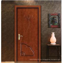 Diseño clásico europeo Diseño simple Puerta de madera maciza