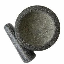 Juego de mortero y mortero de granito para molino de piedra maciza para hierbas de guacamole y especias