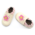Elastic Soft Sole Läderblomma Baby Girl Shoes