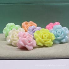 Perles de fleur de résine acrylique rose nuage bricolage