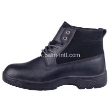 Embossed Leather/PU Outsole Safety Boots